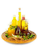 Variety of an olive oils Stock Photo