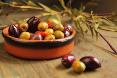Variety of olives Stock Photo