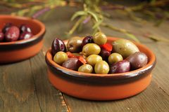 Variety of olives Royalty Free Stock Photo