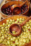 Variety of olives being sold at a market Royalty Free Stock Photo