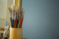 Variety of paint brush Stock Photography