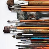 Variety of paintbrushes Stock Photos