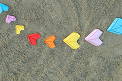 Variety paper hearts Stock Images