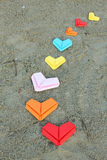 Variety paper hearts Royalty Free Stock Image