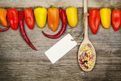 Variety paprika with chili pepper Royalty Free Stock Image