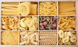 Variety of pasta Royalty Free Stock Images