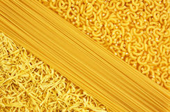 A variety of pasta. Mouth-watering variety of pasta for cooking dinner Stock Image