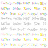 The Variety of pastel colors alphabet sets. Calligraphy art Vect Stock Image