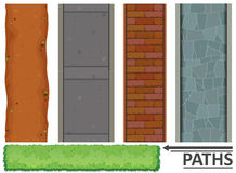 Variety of paths and textures. Illustration Stock Image