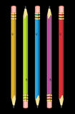 Variety of pencils. Graphite pencils in a variety of colors Stock Photography