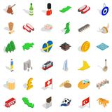 Variety people icons set, isometric style. Variety people icons set. Isometric set of 36 variety people vector icons for web isolated on white background royalty free illustration