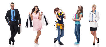 Variety of people royalty free stock photography