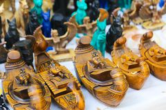 Pharaonic Souvenir Statues stock photography