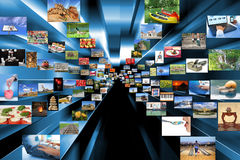 A variety of photos as background Stock Image