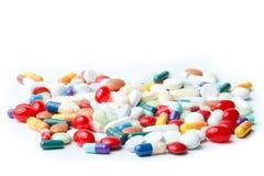 Variety of pills Stock Photos
