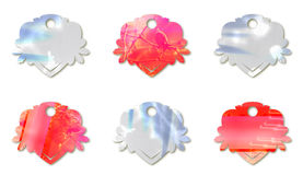 Variety of pink and blue tags Stock Photos