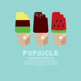 Variety Popsicle. Royalty Free Stock Photography
