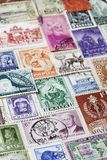 Variety of Postage Stamps full frame Stock Photos