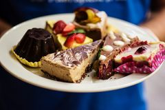 Variety of raw vegan desserts Royalty Free Stock Photo