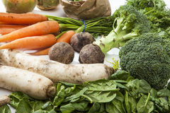 Variety of Raw Vegetables Royalty Free Stock Image