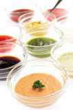 Variety Of Sauces. Variety of english dipping sauce Royalty Free Stock Image
