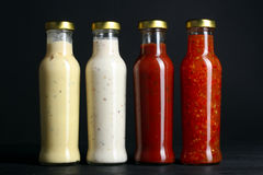 variety of sauces Royalty Free Stock Photography