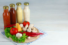Variety of sauces Stock Images