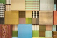 Variety of scott fabric Stock Photo