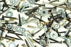 Screws, bolts and screw nuts Stock Image
