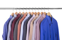 Variety of shirts Stock Photos
