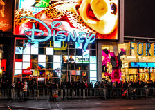 Variety of shopping at stores in Times Square, New York City Stock Photo