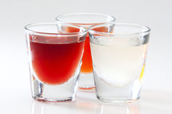 Variety of shot drinks Stock Photography
