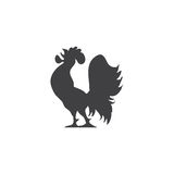 Variety silhouettes chicken  Royalty Free Stock Photography