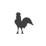 Variety silhouettes chicken. Variety silhouettes chicken Royalty Free Stock Photography