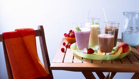 Variety of Smoothies Royalty Free Stock Images
