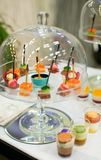 Variety of snacks at event party or wedding Stock Images