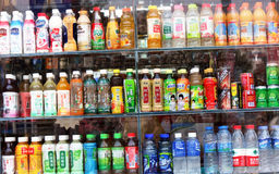 Variety soft drinks Royalty Free Stock Photography