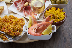 Variety of spanish tapas Stock Photography