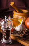 Variety of spices Stock Photography