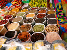 A variety of spices in the Asian market Stock Image