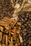 Variety Of Spices Displayed For Sale Stock Photography