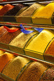 Variety of spices on the Grand Bazaar in Istanbul, Turkey. Stock Photography
