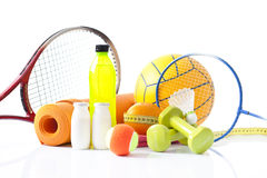 Variety of Sports equipment Stock Images