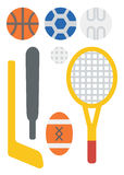 Variety of sports equipment. Royalty Free Stock Photography