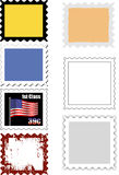 Variety of Stamp Templates Stock Images