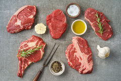 Variety of steaks Stock Photo