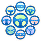 Vector variety of steering wheel icon Stock Photo