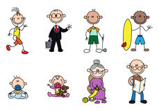 Variety stick man people Stock Images