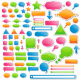Variety of Stickers and Icons stock illustration