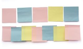 Variety stickies Stock Photo
